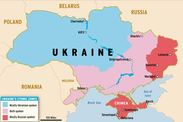 UkraineMap GeoPol Intelligence - Ukraine map