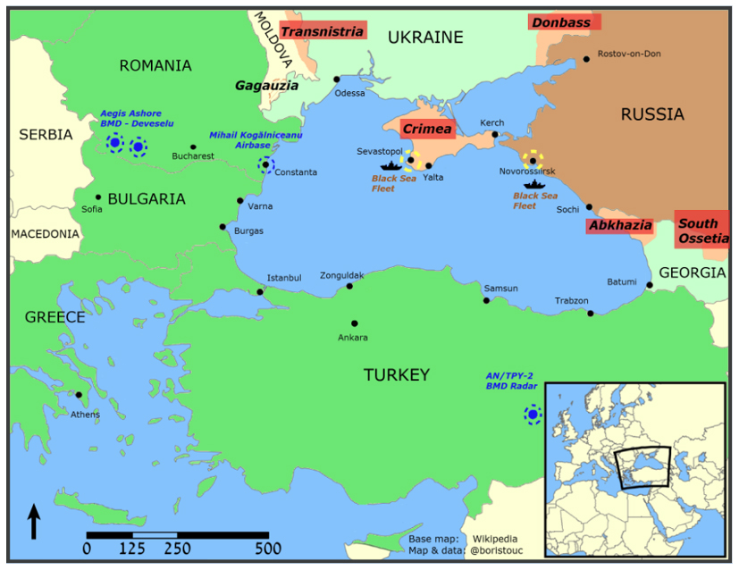 NATO And Russia In The Black Sea A New Confrontation GeoPol - Abkhazia map black sea